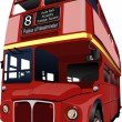 thumbnail of London double Decker  red bus. Vector illustration