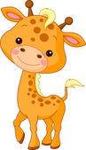 Fun zoo Illustration of cute Giraffe