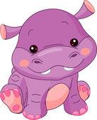 Fun zoo Illustration of cute Hippo