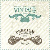 Two vintage styled premium quality ornate labels