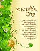 St. Patrick Tag-Rahmen mit Klee und goldene Münze