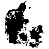 Vector illustration of maps of Denmark