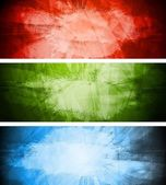 Vector colorful banners in grunge style Eps 10