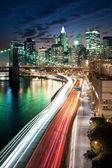 Big Apple naplemente - new York-i manhattan éjszaka után