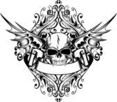 Totenkopf mit Flügel 4