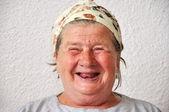Staré věku ženská osoba, velmi krásné a legrační obličej