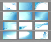Horizontal vector backgrounds for business cards