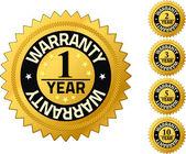 Garantie 1 Jahr Qualität Garantie badges