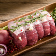 thumbnail of Roast beef with ingredients ready to cooking