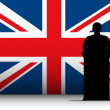 thumbnail of United Kingdom Speech Tribune Silhouette with Flag Backgroun