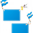 thumbnail of Argentina Sport Message Frame with Flag. Set of Two