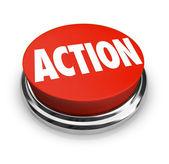 Cselekvési szó piros kerek gomb legyen proaktív