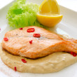 thumbnail of Grilled salmon steak