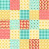 Seamless patchwork pattern Vintage vector background
