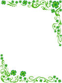 The background of four-leaved clover frame with copy space in the middle