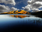 Landscape of Lake and Mountains
