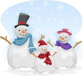 Sněhulák rodina