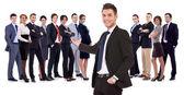 Sikeres Boldog üzleti csapat