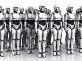 Alvó android nő csoportja