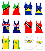 Vector Illustration of Caribbean Tank Tops for men and women