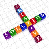 Barva kreativní řešení jako křížovky