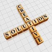 Zlatá kreativní řešení, jako křížovky