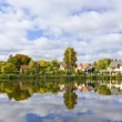 thumbnail of Dream autumn village and its reflection