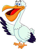 Vector Illustration Of Pelican Cartoon