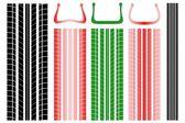 Vektorové ilustrace stopy tlaku v pneumatikách
