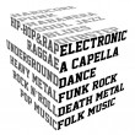 Постер, плакат: Typography with music genres