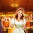 thumbnail of Bavarian girls cheer with beer