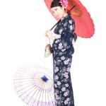 Beautiful kimono woman