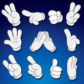 Comics Cartoon Hands Gestures Signs vector clip art