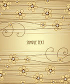 The light brown background floral decoration 1