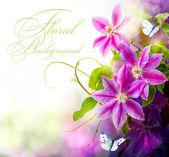 Fond floral abstrait printemps
