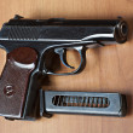 Постер, плакат: Russian 9mm handgun PM Makarov