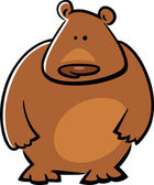 Cartoon doodle illustration of cute brown bear