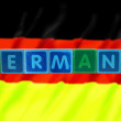 thumbnail of Germany and flag in toy block letters