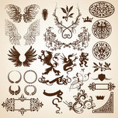 Heraldic elements for page decoration