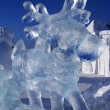 thumbnail of Ice sculpture of a deer