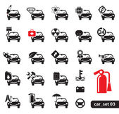 Car service icons set 03