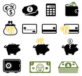 Money making saving and investment concepts icons