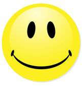 Vector smiley yellow emoticon Perfect for icon button badge Blend shadow