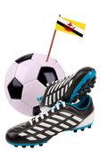 Fotbalový míč nebo fotbal s národní vlajkou