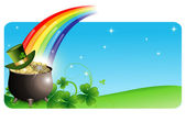 Abstrakt St. Patrick? s-Tag-Banner