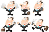 Set of Cartoon Businessmen