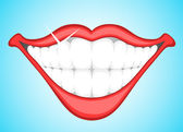 Creative Conceptual Decorative Art of Smiling Teeth Clip Art Vector Illustration