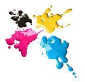 CMYK színek csobbanásai
