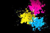 Cmyk color splatter