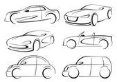 Car auto logo line art